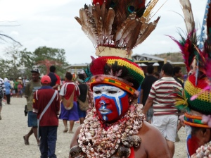 A dancer from the Highlands region of Papua New Guinea