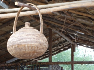 A hand made basket.  Most of the crafts were available to buy