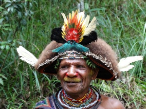 A Hulu Wigman in the Highlands of Papua New Guinea