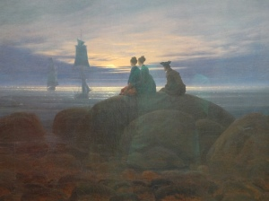 Casper David Friedrich's Moonrise Over the Sea, one of my favorite paintings in the world