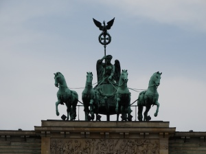 The Quadriga of Victory atop the Brandenburger Tor in Berlin