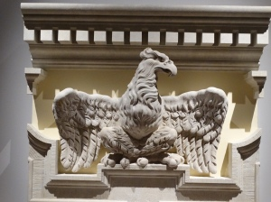 One of Berlin's many eagles, all stone