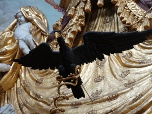 The black eagle, the longtime symbol of German kings and other rulers, and the official bird of the German Republic, as well