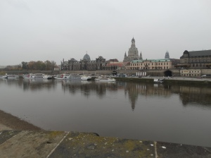 The view over the Elbe River from the New City side.
